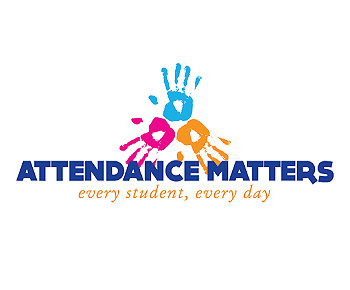 (handprint) Logo: Attendance matters: Every student, Every Day