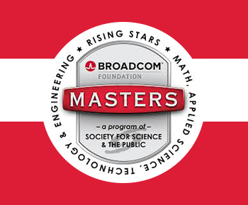 Broadcom MASTERS logo: Rising Stars, Math, Applied Science, Engineering and Technology