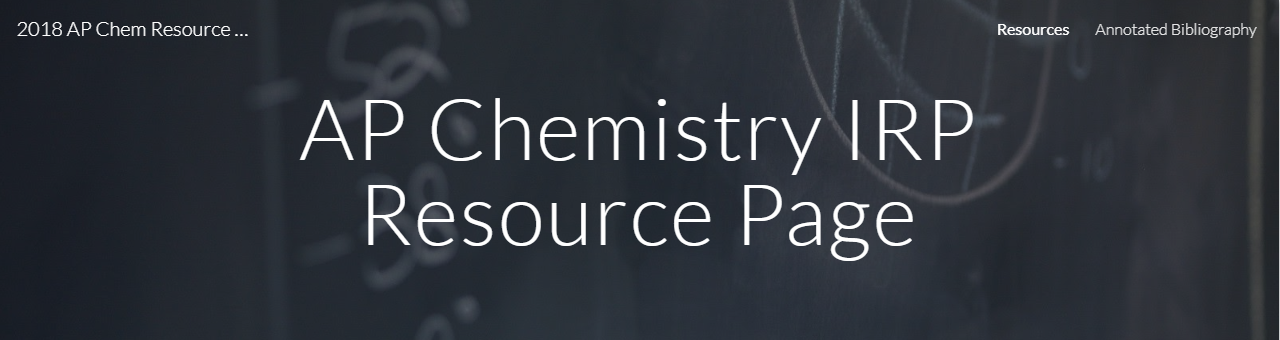 AP Chemistry Research Resources