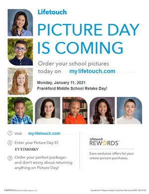 Lifetouch picture day flyer. Picture day is Jan. 11