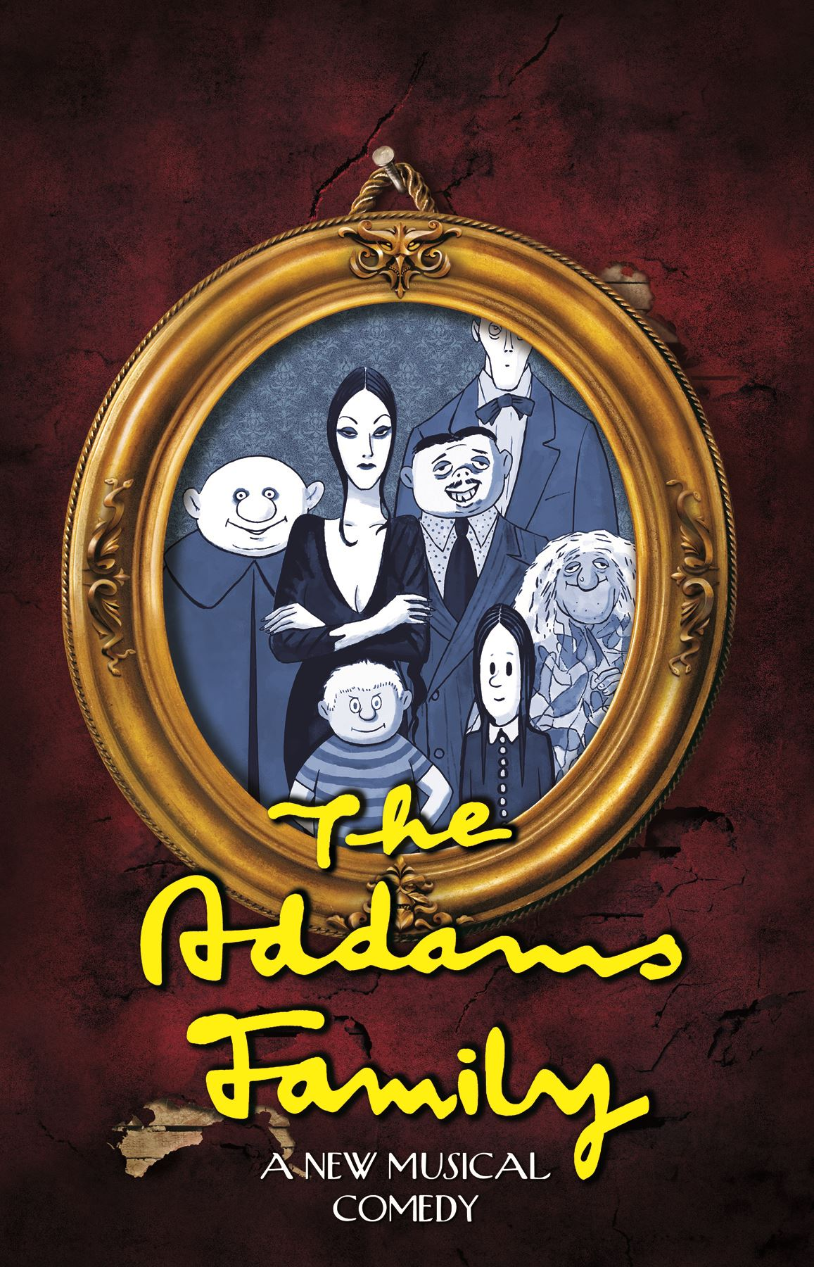 Drawn portrait of The Addams Family