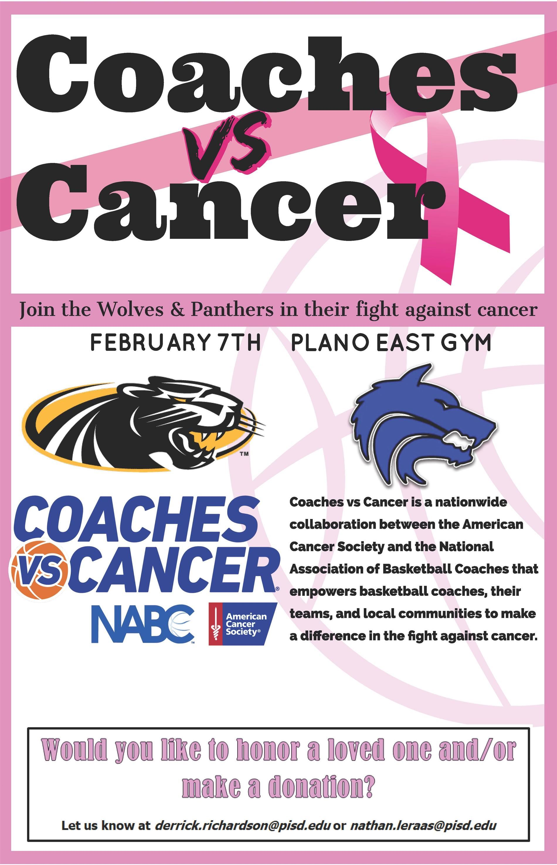 Coaches vs. Cancer Game