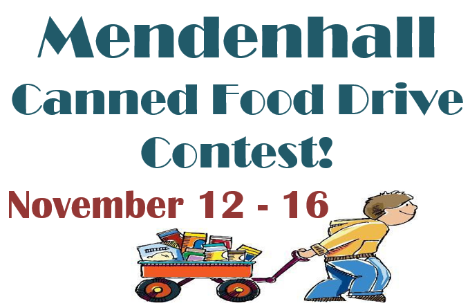Mendenhall Canned Food Drive Contest!
