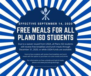 Free Meals Announcement