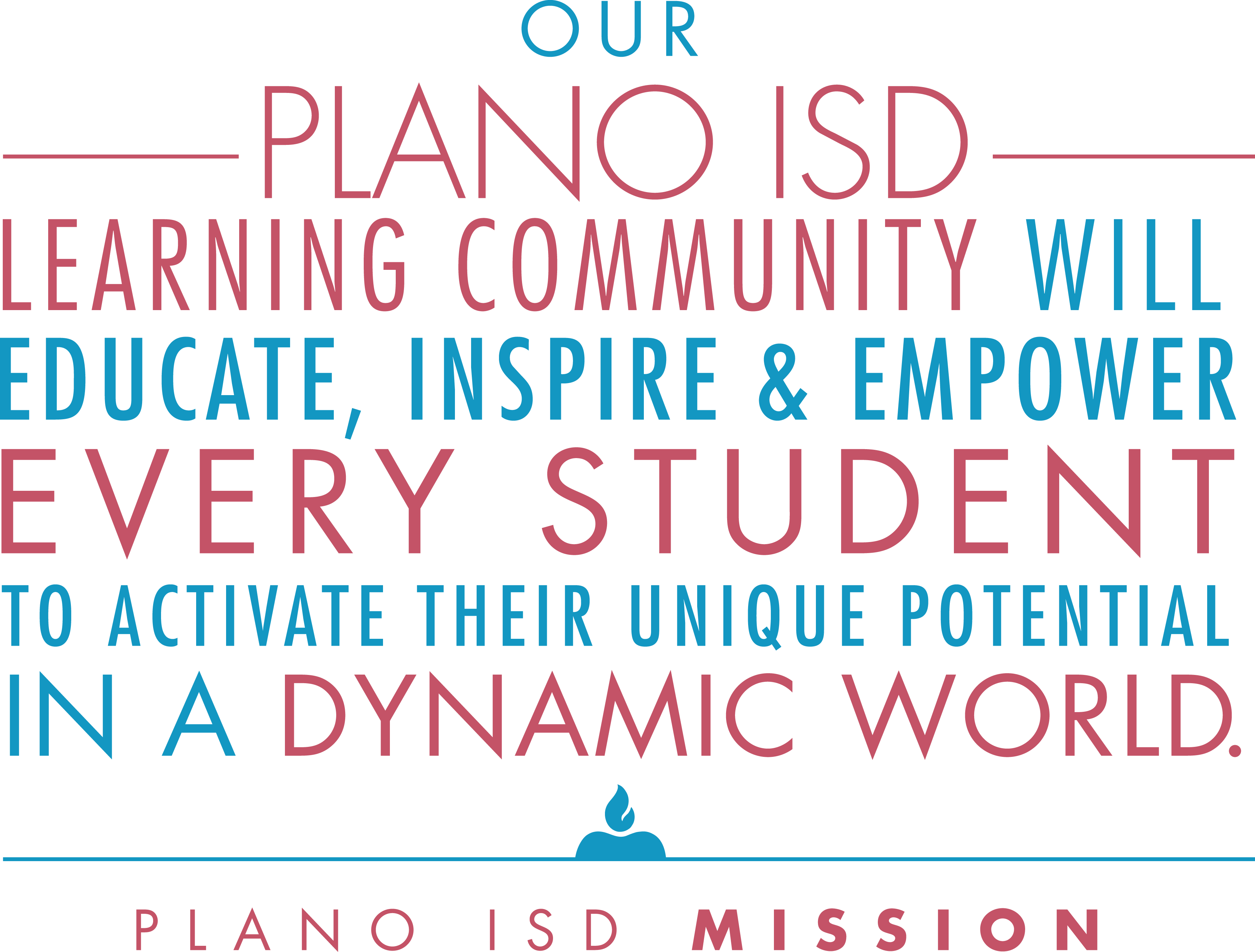 Our Plano ISD learning community will educate, inspire and empower every student to activate their unique potential in a dynamic world.