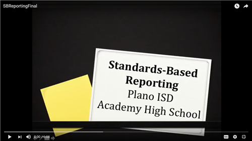 Standard Based Reporting Plano Academy High School
