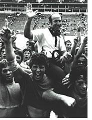 Coach Kimbrough was carried teammates