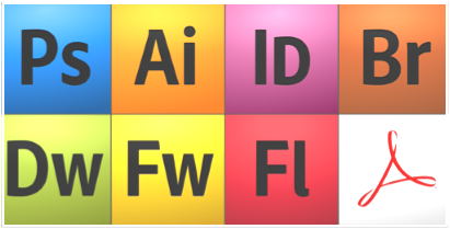 Microsoft Creative Suite application icons