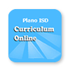 blue box containing the words curriculum online