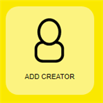 person icon with add creator listed below