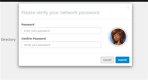 Image of verifying network password