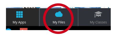 Image showing My Files icon in Webdesk