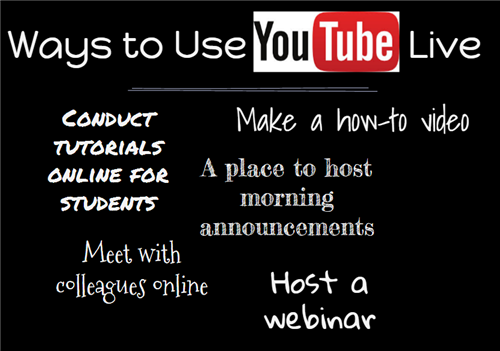 ways to use youtube live