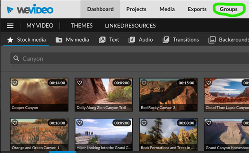 Image of WeVideo Dashboard