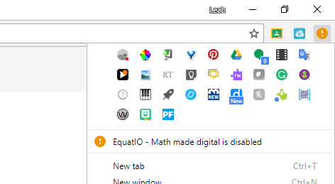 orange exclamation point in chrome browser