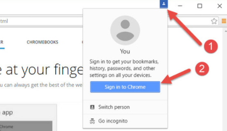 sign into chrome