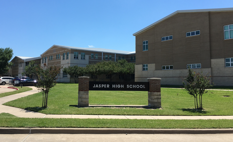 Jasper High School front entrance