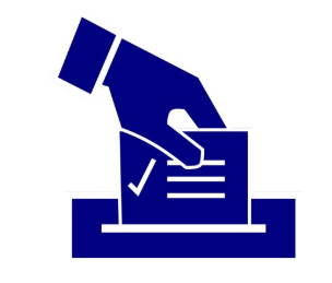 icon of hand with ballot