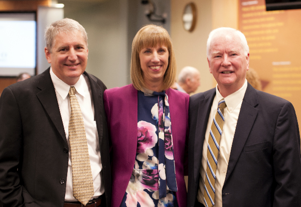 Photo of Lone Finalist for Superintendent Sara Bonser with her husband and former Superintendent Richard Matkin