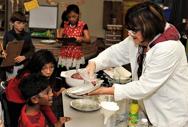 Celene Rosen in classroom