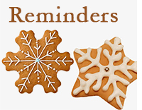 winter holiday reminders