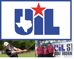 golfers with UIL logo