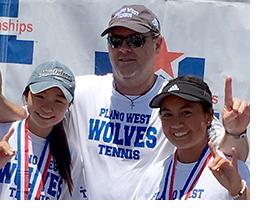 Plano West tennis winners & coach
