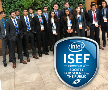 ISEF students at competition