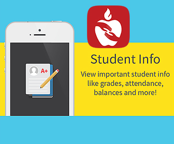 Student info view important student infor like grades attendance balances and more!
