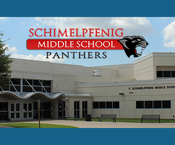 Schimelpfenig school facade photo and logo