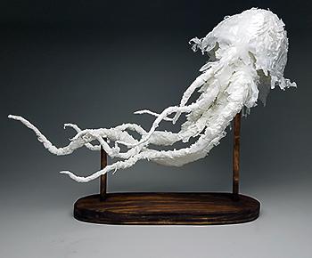 sculpture of jellyfish by Rachel Pham