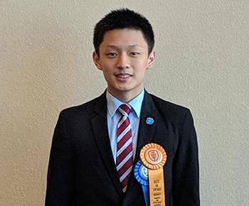 ISEF best of show winner Kevin Meng