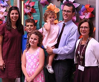 PSHS Assoc Prin Andrew Jacob, family & Sarah Watkins PSHS principal