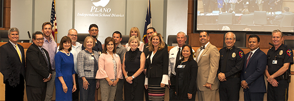 Police, Fire and district employees recognized for teamwork in getting schools started