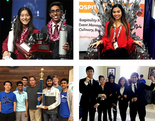 photo collage of winning students