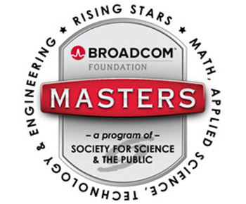 Broadcom MASTERS logo: rising stars, math, applied science, technology and engineering