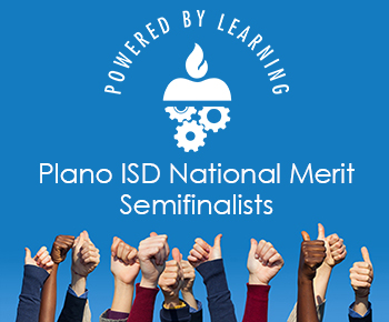 students giving thumbs up Plano ISD National Merit Semifinalist